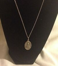 Vintage Jesus Religious Charm Medallion Doulbe Sided