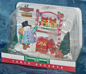 Lemax 25 days till Christmas countdown calendar New in box Snowman Tree dog Rare
