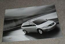 Chrysler Voyager Brochure 2003 - SE LX Limited XS 2.4 2.5 CRD Grand 3.3 V6