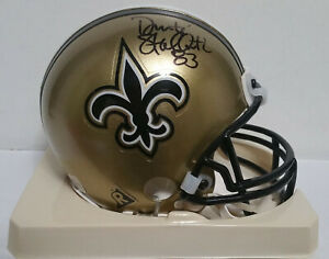 Donte Stallworth Signed Autographed Mini Helmet - w/COA - NFL Saints Patriots