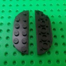 *NEW* Black Round Edge 6x2 Stud Flat Brick Plate Baseplate Platform - 2 pieces
