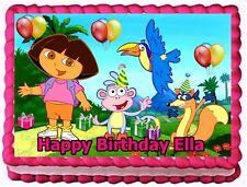 DORA THE EXPLORER EDIBLE CAKE TOPPER BIRTHDAY DECORATIONS