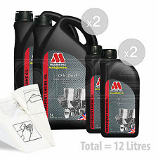Car Engine Oil Service Kit / Pack 12 LITRES Millers CFS 10w-60 full synth 12L