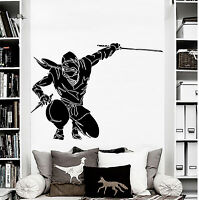 Wall Decal Ninja Japanese Warrior Vinyl Sticker Samurai Martial Arts Decals D588