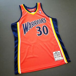 100% Authentic Stephen Curry Mitchell Ness 09 10 Warriors Jersey Size 40 M Mens