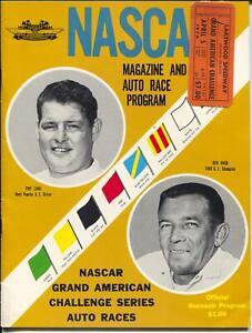 Lakewood Raceway NASCAR Auto Race Program & Ticket Stub-4/5/1970-Tiny Lund-FN