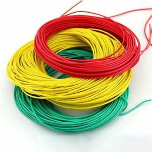 18AWG UL1007 Cable Tinned Copper Hook-Up PVC Electrical Stranded Wire O.D 2mm