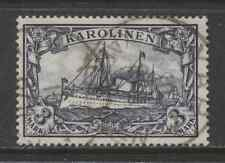 1900 German colonies CAROLINE ISLANDS 3 Mark Yacht issue  used, -YAP-, € 170.00