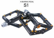 MTB Road Mountain Bike Aluminum CNC Flat/Platform Pedal 4 Sealed Bearing Pedal