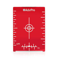 AdirPro Red Magnetic Ceiling Target Plate with Leg for Red Beam Laser 708-01