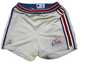 Game Worn Shorts Los Angeles Clippers Champion Size 40 Brent Barry Signed
