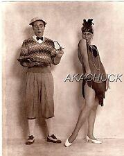 Flapper & The Professor SEPIA HENDRICKSON PHOTO Original Artist Studio D477