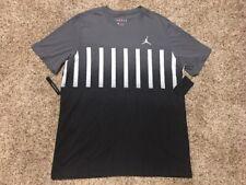New $40 Mens Nike Air Jordan Jumpman Tennis Fade Graphic Black/Gray T-Shirt!