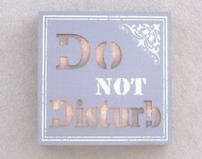 PRICE DROP LED NOVELTY SIGN DO NOT DISTURB BOX STYLE GREY & WHITE BAT OP