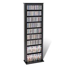 Media Tower Storage CD DVD Stand Organizer Furniture Slim Adjustable Shelves New