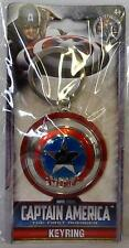 "CAPTAIN AMERICA The First Avenger Marvel Universe 3"" inch Pewter Key Ring 2011"
