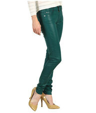 """NWT 7 FOR ALL MANKIND SECOND SKIN JEANS Sz23 COATED IN BREV""""LEATHER LIKE FINISH"""""""