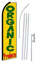 Complete 15' Organic Produce Kit Swooper Feather Flutter Banner Sign Flag