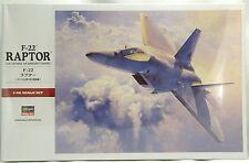1:48 Scale F-22 Raptor Model Aircraft Kit - Hasegawa #07245