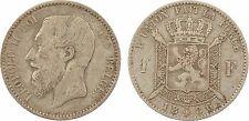 Belgique, 1 franc Léopold II, 1886, argent - 81