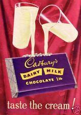 VINTAGE Cadburys Dairy Milk Annuncio Poster A3 RISTAMPA