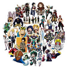 My Boku No Hero Academia PVC Adhesive Stickers For Laptop Luggage Car 50pcs/set