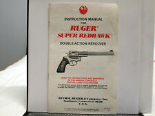 Ruger Super Redhawk Double-Action Revolver Instruction Manual - Multi Years