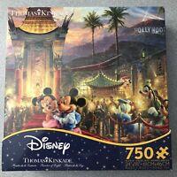 Disney - Thomas Kinkade - Mickey And Minnie Hollywood- 750 Pc Puzzle -New Sealed