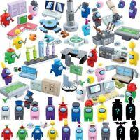 20Pcs lot 2in1 set Among US Game model Building block toys mini-figure doll Kids