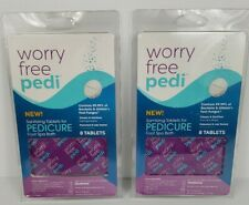 Sanitizing Tablets for Pedicure Foot Bath Spa Worry Free Pedi 16 Tablets Lot (2)