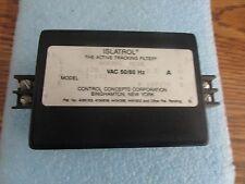 Control Concepts Islatrol  Model: I-102 Filter.  120VAC, 50/60Hz, 2.5A <
