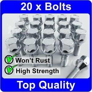 20 x ALLOY WHEEL BOLTS FOR VAUXHALL ASTRA MK3 MK4 MK5 TAPER SEAT LUG NUTS [H50]