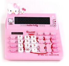 Cute Hello Kitty Desk Basic Desktop Electronic Calculator Pink