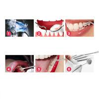 Stainless Steel Dental Dentist Teeth Kit Oral Clean Probe Mirror Tweezers Tool