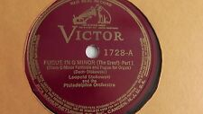 Leopold Stokowski - 78rpm single 10-inch – Victrola #1728 Figue In G Minor BACH