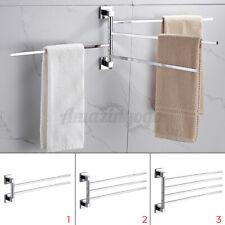 2/3/4 Swing Arm Stainless Steel Towel Holder Bar Rails Rack Bath Wall Mounted