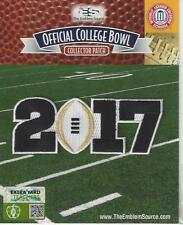 2017 CFP National Championship Playoff Game Patch White Football Worn by Clemson