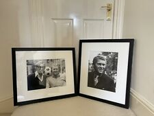 More details for x 2 getty images framed black & white photos caine, moore & mcqueen coll sw13