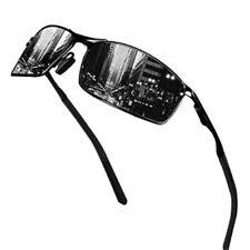 Herren Fahren Sonnenbrille Polarisiert 100% UV 400 Schutz Sportbrille Schwarz