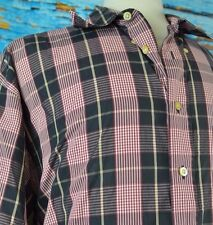 Burberry London Men's Shirt Size XL Button Up Check Pattern USA Colorful Casual