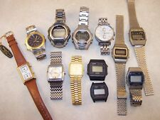 Men's Watch Lot,Gruen Swiss & Dual Time,Pulsar Alarm Chronograph,Fossil,Casio+++