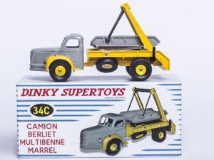 RARE ATLAS DINKY SUPERTOYS 34C 1/43 CAMION BERLIET MULTIBENNE MARREL PROTOTYPE