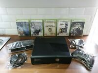 Xbox360 Slim 4GB Console X5 Games X1 Controller Bundle Nextday Delivery To Uk