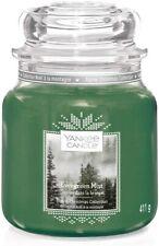Yankee Candle Medium Jar Evergreen Mist 411g Christmas Alpine Collection