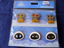 Disney * WALL-E & EVE * Emoji * TSUM TSUM * NEW 6 Pin Booster Set