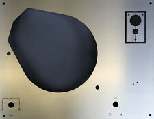 Deckplatte Platte face plate für Thorens TD 145 - 166 Edelstahl mit Beschriftung