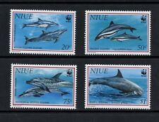 Q070  Niue  1993   marine mammals dolphins WWF  4v.  MNH