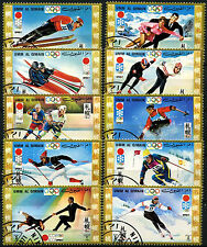 Umm Al Qiwain 1971 Winter Olympic Games Cto Used Set #D39407