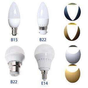 6/12PCS B15 B22 E14 3W 5W AC20V LED Non-Dimmable Globe Candle Bulb Spot Light AU