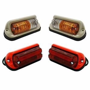 Side Indicator Taillights Lamp Set without bulbs Suitable Massey Ferguson Tracto
